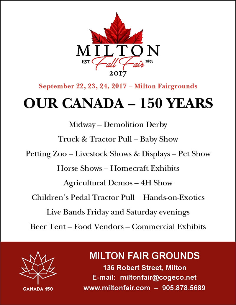 Milton Fall Fair Info-Midway- Demolition Derby, Truck & tractor Pull, Baby Sho, Petting Zoo, Livestock Shows, Pet Show, Horse Shows, Homecraft Exhibits, and much more